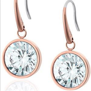 Michael Kors Rose Gold solitaire drop earring